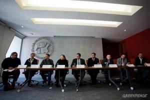 Mesa de la conferencia en la CDHDF, ayer miércoles 30 de noviembre