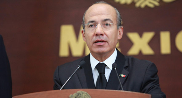 Felipe Calderón en Monterrey