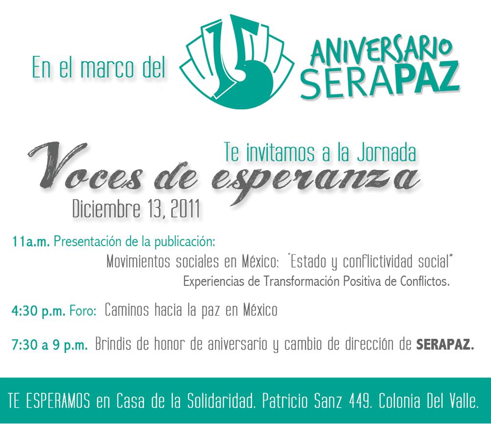 Voces de Esperanza, Serapaz A.C.