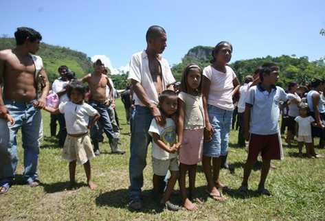 Familias desplazadas