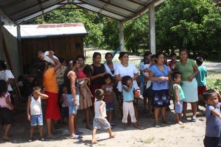 Mujeres desplazadas en Tenosique