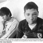 Normalistas de Ayotzinapa, golpeados