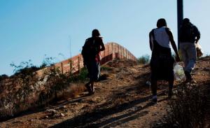 Migrantes en la frontera norte