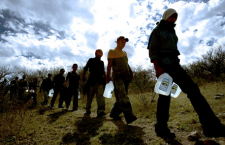 Un grupo de migrantes en su camino hacia EU/ Foto: fabimilenio.blogspot