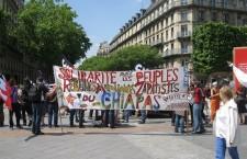 Solidaridad con el Movimiento Zapatista desde París | Foto:  Kaos en la Red