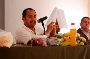 Aspectos de conferencia de prensa en el Centro Prodh   Foto: Alina Vallejo
