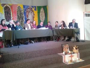 Presentación ante el TPP de demanda colectiva contra maíz transgénico | Foto: Olivia Vázquez