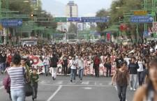 Marcha de estudiantes por el 2 de octubre | Foto: Guillermo Perea/Cuartoscuro