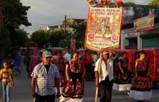 Celebración contra las eólicas en Juchitán