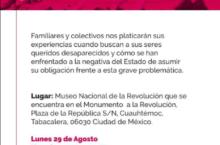"""Foro: """"Desafíos para la búsqueda de nuestras y nuestros desaparecidos en México"""""""