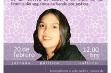 Acto por memoria y justicia para Lilia Alejandra