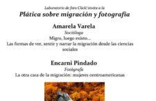 Plática sobre migración y fotografía