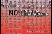 """Conversatorio: Los periodistas decimos """"No es normal desaparecer"""""""