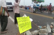 Comunidad zapoteca realiza acción en defensa de su territorio