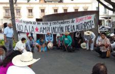 El Frente Unido en Defensa de Tepoztlán llama a manifestarse en contra de la ampliación de la autopista La Pera-Cuernavaca