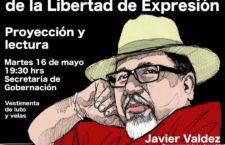 Protesta por el asesinato de la Libertad de Expresión