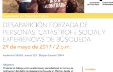 """Seminario """"Desaparición forzada de personas: Catástrofe social y experiencias de búsqueda"""""""