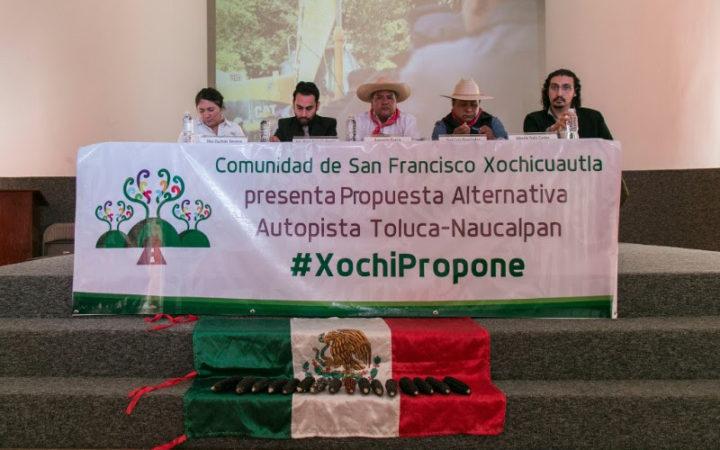 Comunidad de Xochicuautla presenta propuesta para evitar que la autopista dañe el territorio y su relación con él