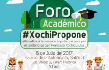 Foro académico #XochiPropone