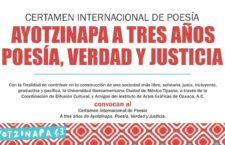 Certamen Internacional de Poesía | Ayotzinapa a tres años, poesía verdad y justicia