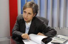 """Mexican journalist Carmen Aristegui speaks during an interview with AFP about the New York Times article """"Using Texts as Lures, Government Spyware Targets Mexican Journalists and Their Families"""", in Mexico City on June 22, 2017. Mexican prosecutors said Wednesday they have opened an investigation into allegations the government spied on leading journalists, human rights activists and anti-corruption campaigners. / AFP PHOTO / BERNARDO MONTOYA        (Photo credit should read BERNARDO MONTOYA/AFP/Getty Images)"""