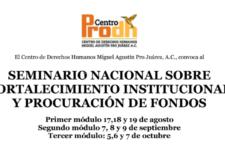 Seminario nacional sobre fortalecimento institucional y procuración de fondos