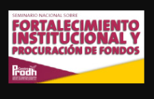 Seminario |  Fortalecimiento institucional y recaudación de fondos