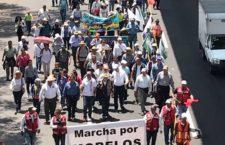 Ingresa 'Marcha por Morelos' a la Ciudad de México