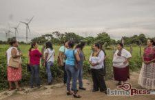 """""""Muchas mujeres nos dicen que estamos solo perdiendo el tiempo, pero no les hacemos caso, al contrario las invitamos a que se sumen"""": Mujeres de Unión Hidalgo contra las eólicas"""