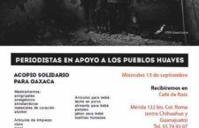 Periodistas en apoyo a los pueblos huaves