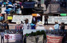 Marcha en Hidalgo para pedir justicia por asesinato de joven a manos de policías