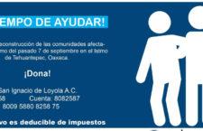 Campaña | Reconstrucción en Oaxaca