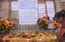 Colocan ofrenda para luchadores sociales y víctimas de la violencia en Chilapa