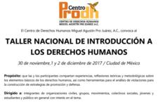 Taller Nacional de Introducción a los Derechos Humanos
