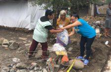 Migrantes mandan víveres a damnificados en Puebla