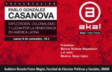 Presentación de libro de Pablo González Casanova