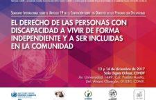 Seminario internacional sobre derechos de las personas con discapacidad