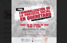 "Foro ""Criminalización de la protesta social en Querétaro"""