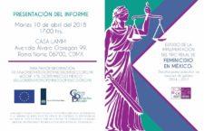 EN AGENDHA | Presentación de informe sobre tipo penal de feminicidio