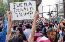 IMAGEN DEL DÍA |Protestan contra Trump en embajada