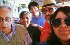 Manlio Tirado López (izquierda), fallecido periodista de Sinaloa destacado en Nicaragua, con los Valdez Triana: Griselda, Juan Francisco, Javier y Tania Penélope