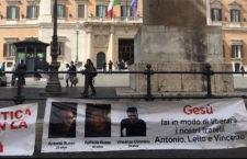 IMAGEN DEL DÍA | Familiares de italianos desaparecidos realizan huelga de hambre en Roma