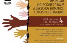 EN AGENDHA | Conversatorio sobre impunidad, graves violaciones a derechos humanos y crisis de estatalidad