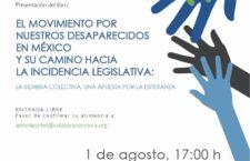 EN AGENDHA | Presentación de libro: El movimiento por nuestros desaparecidos en México