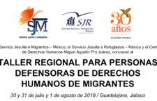 EN AGENDHA | Guadalajara: Taller para personas defensoras de migrantes