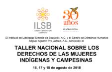 EN AGENDHA | Taller nacional sobre los derechos de las mujeres indígenas y campesinas