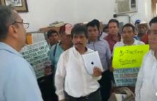 VIDHEO | Comisariados ejidales se manifiestan en Tamazunchale contra el fracking