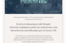 EN AGENDHA | Presentación de informe ciudadano sobre violaciones a ddhh en el sismo