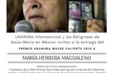 EN AGENDHA | Otorgamiento de premio a María Herrera