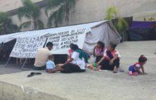 IMAGEN DEL DÍA | Plantón de desplazados del Ejido Puebla